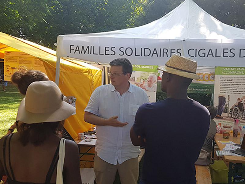 familles solidaires au festival alternatiba