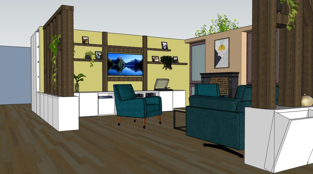 Modélisation habitat inclusif zillisheim salon